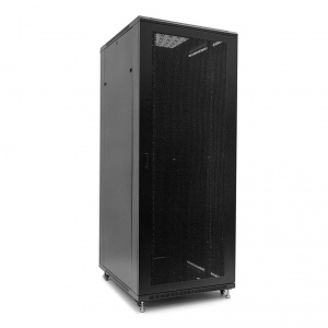 Netrack standing server cabinet 42U/800x1200mm (perforated door)-black FULLY ASS