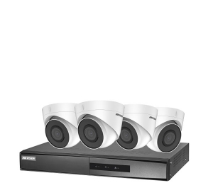 it supraveghere Hikvision IP NK42E2H-1T(WD); 2MP; Kit-ul contine : 4 x camere IP DS-2CD1323G0E-I; 1 x NVR DS-7104NI-Q1/4P/M