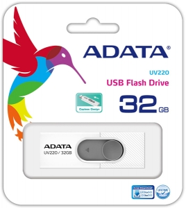 Memorie USB Adata UV220 32GB USB 2.0 WHITE/GRAY