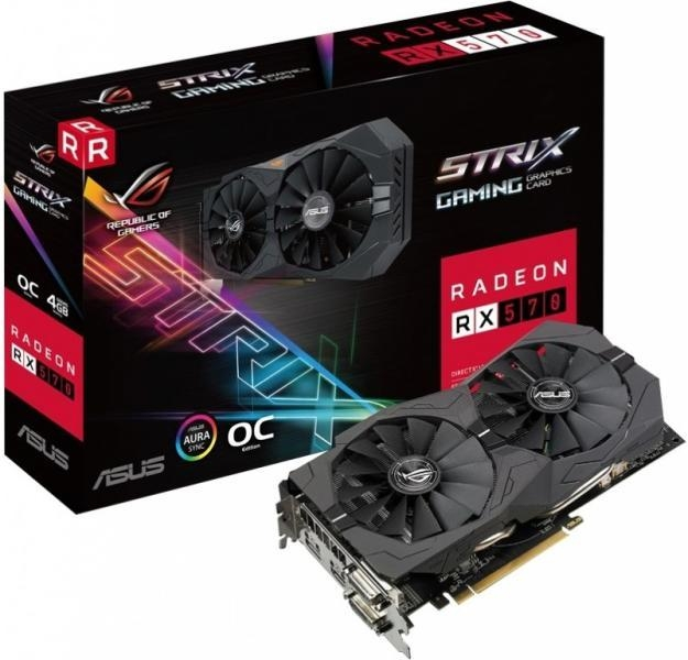Placa Video Asus ROG Strix Radeon RX 570 O4G Gaming Edition 4GB GDDR5