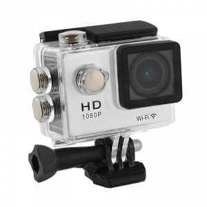 2.0-- Waterproof Sports Camera Full HD QOLTEC for helmet/bike | Wi-Fi | silver