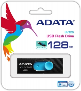 Memorie USB Adata UV320 128GB USB 3.1 BLACK/BLUE