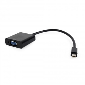 Gembird Mini Displayport male to VGA female adapter, black, blister