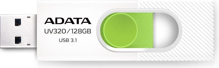 Memorie USB Adata UV320 128GB USB 3.0 White And Green