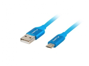 Lanberg cable Premium Quick Charge 3.0, USB Micro-B(M)->A(M) 1.8M Blue
