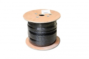 DIGITUS CAT 6 twisted pair installation cable 305m outdoor jelly filled black