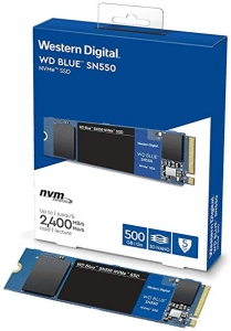 SSD Western Digital 500GB Blue NVMe PCe Gen3 M2 Read/Write speed: 2400/1750 MB/s