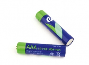 Rechargeable AAA instant batteries (ready-to-use), 850mAh, 2pcs blister pack