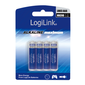LOGILINK - Ultra Power AAA Alkaline Batteries, LR03, Micro, 1.5V, 4pcs