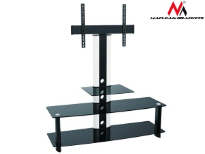 Maclean MC-626 TV table with glass holder for LCD Black Tempered Glass 32-55--