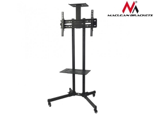 Maclean MC-661 TV Mobile Floor Stand Plasma/LCD TV Trolley w/ Mounting Bracket