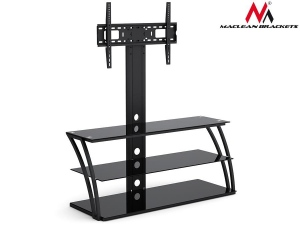 Maclean MC-672 TV table with glass holder for LCD 32-55 --40kg max VESA 600x400