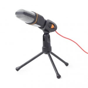 Gembird Desktop microphone with a tripod, MIC-D-03, black