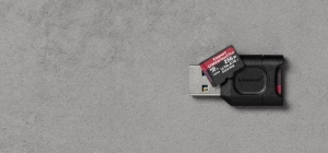 Card Reader Kingston SDXC + SDR2 64GB, Black
