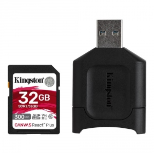 Card Reader Kingston 32GB SDXC SDR2+SD READER, Black