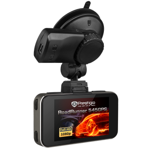 Car Video Recorder PRESTIGIO RoadRunner 545GPS ( 1920x1080p@30fps ,2.7 inch, black +Gun)