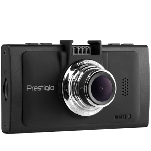 Car Video Recorder PRESTIGIO RoadRunner 570GPSb (SHD 2304x1296@30 fps, 2.7 inch screen, Ambarella A7, 3 MP, 170˚ viewing angle, HDMI, 10x zoom, 130 mAh, GPS, Night vision, Motion detection, LDWS, EIS, IR, G-Sensor, black)