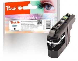 Ink PEACH PI500-158 Brother LC-121| black
