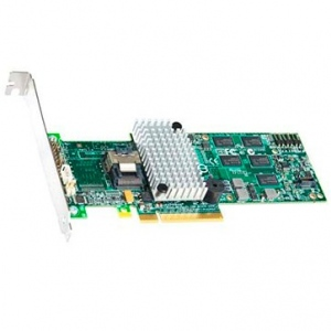 Intel RAID Controller RS2BL040 (4ch Internal LSI SAS2108 ROC, 6Gb/s up to 32 SAS/SATA/SSD, PCI-E 2.0 X8, 512MB DDR2, optional AXXRSBBU7, RAID 0,1,5,6,10,50,60, 1 Cable 1xMini-SAS SFF-8087 to 4x SATA and LP Bracket included)