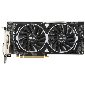 MSI Video Card AMD Radeon RX 580 GDDR5 8GB/256bit, 1366/8000MHz, PCI-E 3.0 x16, 2xDP, 2xHDMI, DVI-D, ARMOR 2X Cooler(Double Slot), Backplate, Retail