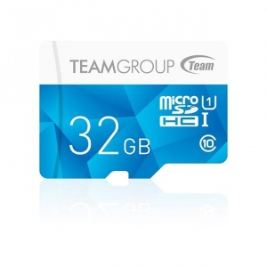 Team Group memory card Micro SDHC 32GB UHS-I +Adapter, Blue