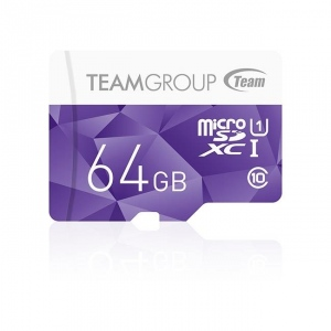 Team Group memory card Micro SDXC 64GB UHS-I +Adapter, Purple