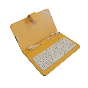 ART Etui + keyboard micro+mini USB for TABLET 7--  yellow  AB-101D