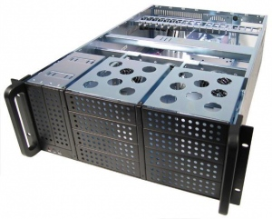 Carcasa Server Chieftec IPC 4U series UNC-410B-42R 2x420W PSU